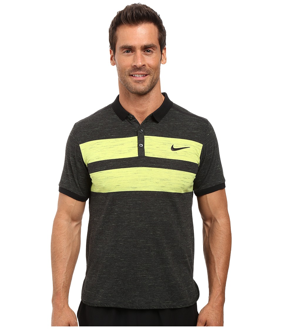 Nike - Court Dry Advantage Tennis Polo (Black/Black) Men's Clothing