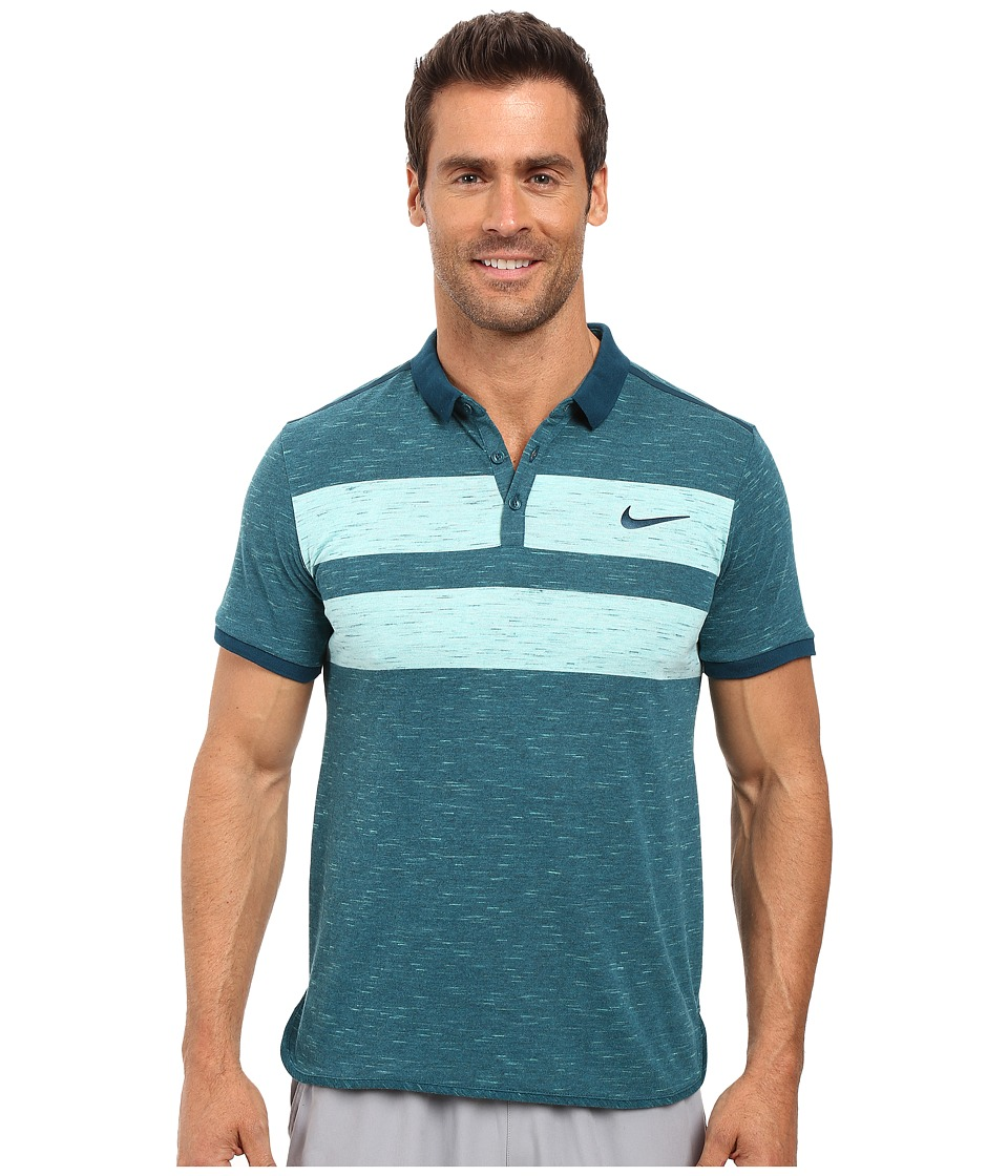 Nike - Court Dry Advantage Tennis Polo (Midnight Turquoise/Midnight Turquoise) Men's Clothing