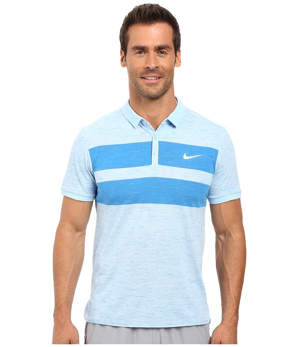 Nike - Court Dry Advantage Tennis Polo (Bluecap/White) Men's Clothing
