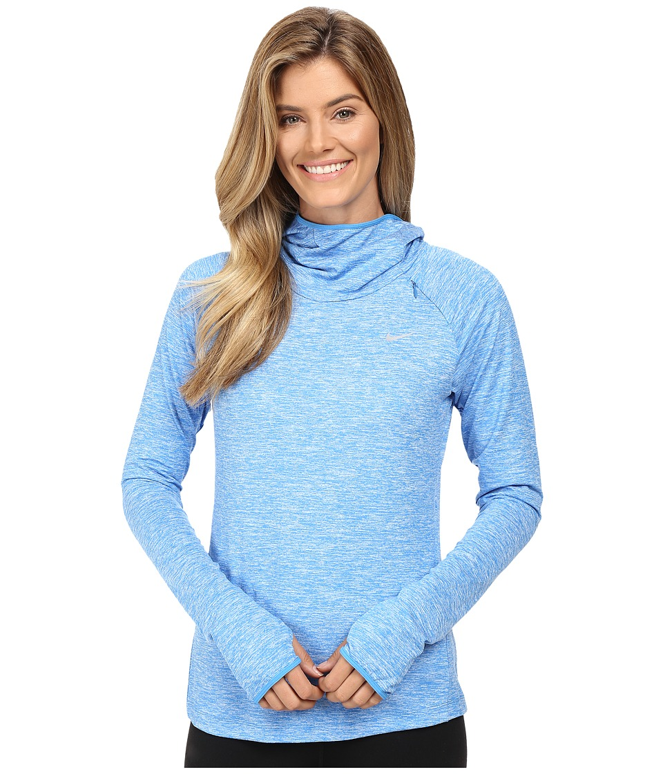 Nike - Dry Element Running Hoodie (Light Photo Blue/Heather/Reflective Silver) Women's Sweatshirt