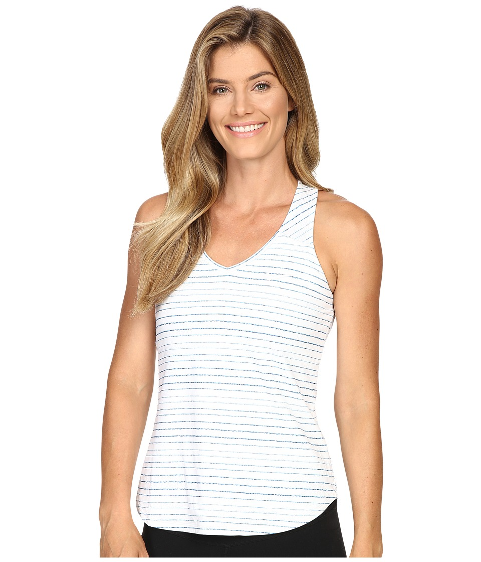 Nike - Dry Printed Pure Tank Top (White/White) Women's Sleeveless