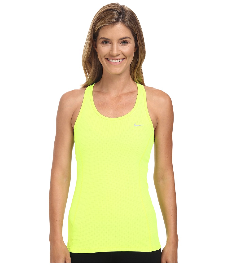 Nike - Dri-FIT Contour Tank Top (Volt/Reflective Silver) Women's Sleeveless