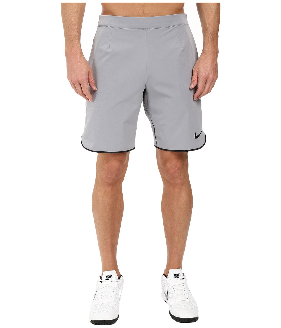 Nike - Gladiator 9 Tennis Short (Stealth/Black/Black) Men's Shorts