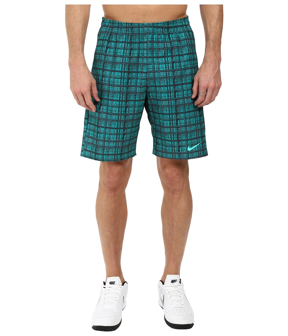 Nike - Court 9 Plaid Shorts (Rio Teal/Hyper Jade/Hyper Jade) Men's Shorts