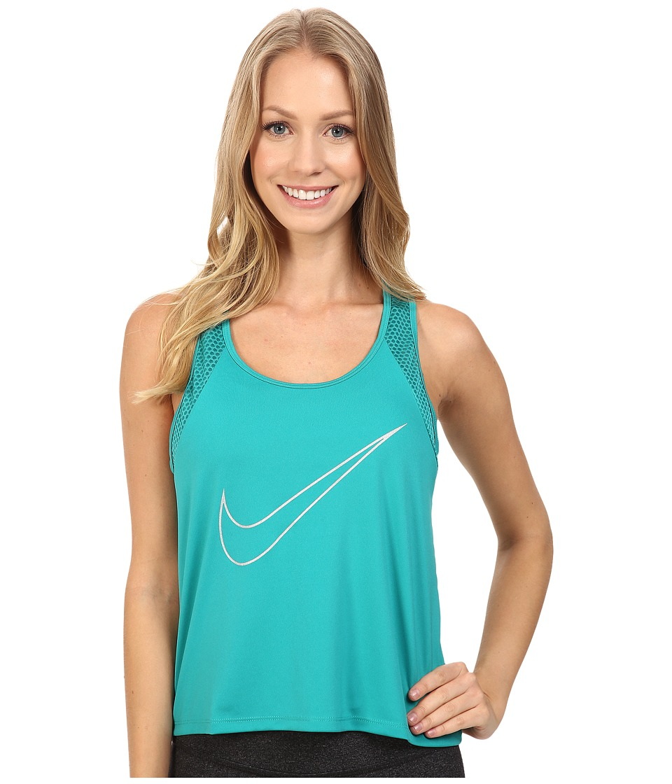 Nike - Dry Run Fast Running Tank Top (Teal Charge/Reflective Silver) Women's Sleeveless