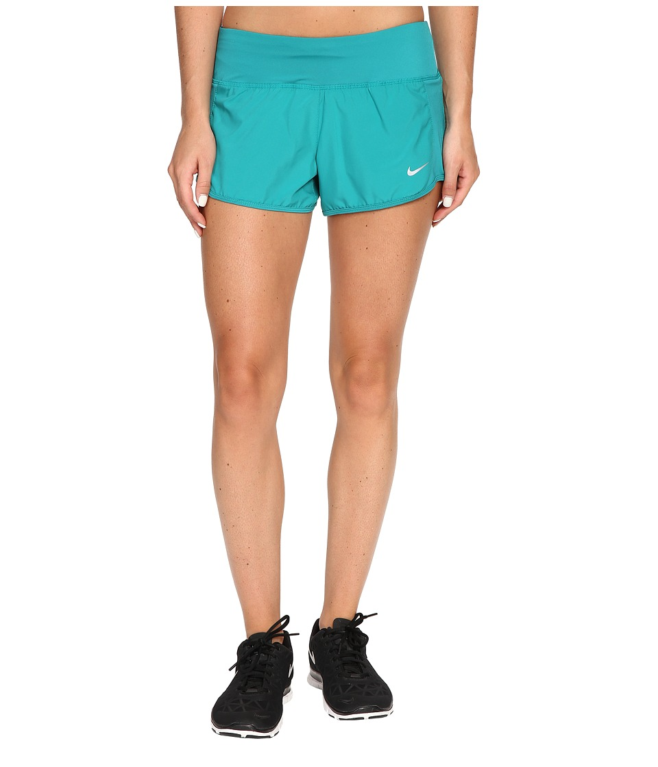 Nike - Crew Shorts (Teal Charge/Teal Charge/Reflective Silver) Women's Shorts