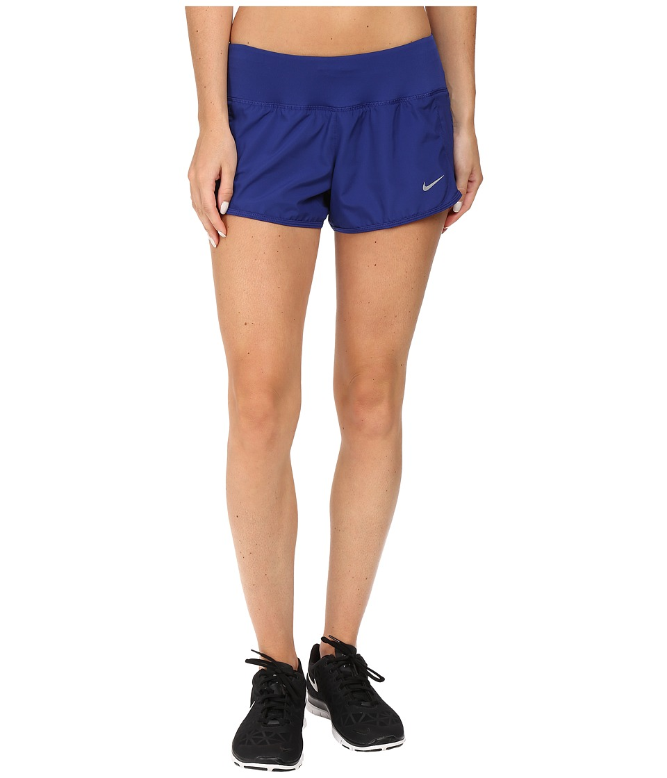 Nike - Crew Shorts (Deep Royal Blue/Reflective Silver) Women's Shorts