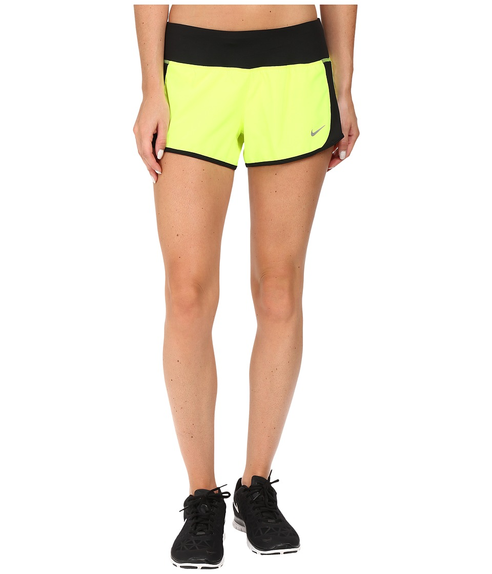 Nike - Crew Shorts (Volt/Black/Reflective Silver) Women's Shorts