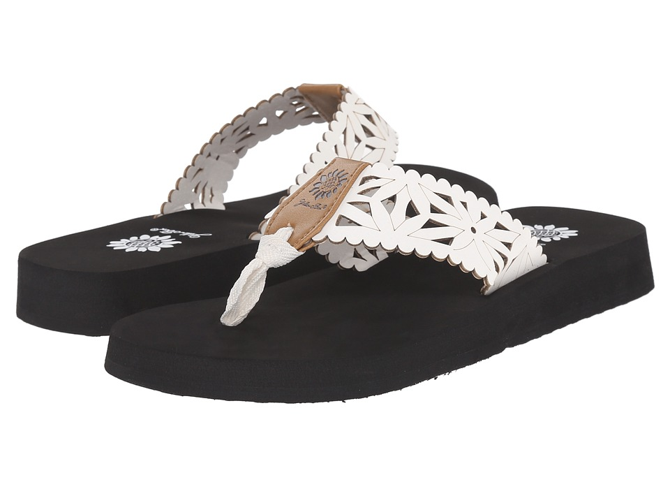 Yellow Box - Wiley (White/Black) Women's Sandals