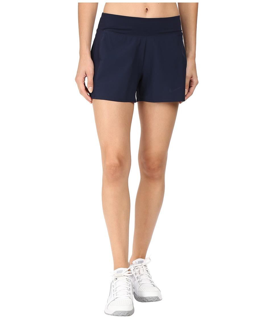 Nike - Court Baseline Tennis Short (Obsidian/Obsidian) Women's Shorts