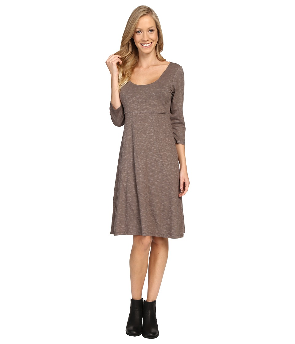 Toad&Co - Nena 3/4 Dress (Falcon Brown) Women's Dress