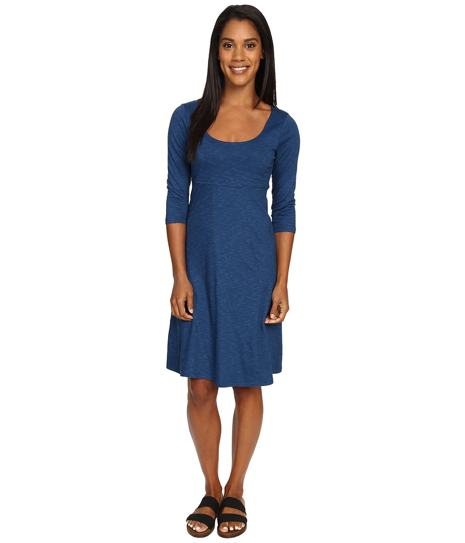 Toad&Co - Nena 3/4 Dress (Blue Abyss) Women's Dress