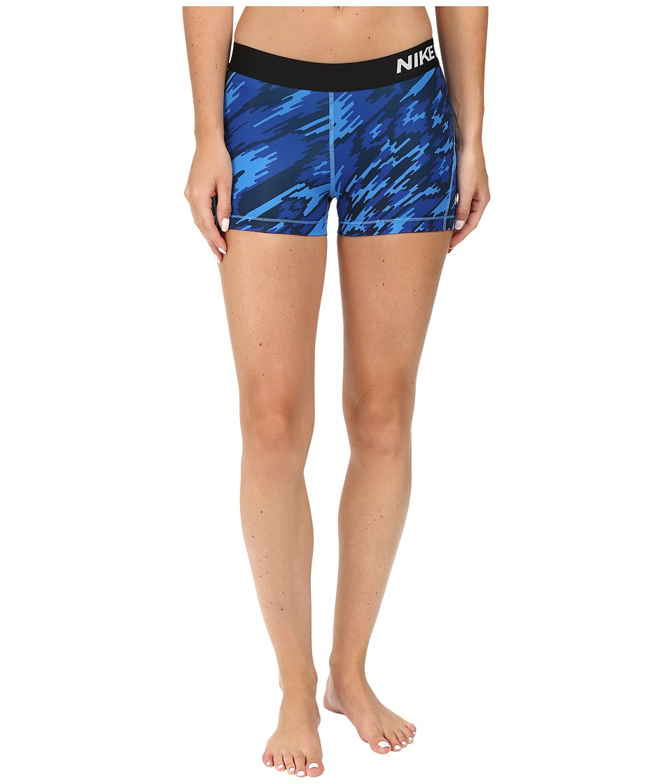 Nike - Pro Cool Overdrive Training Short (Light Photo Blue/White) Women's Shorts