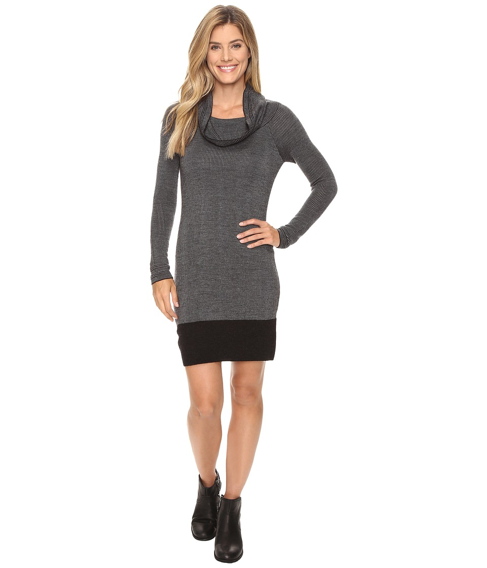 Toad&Co - Uptown Sweater Dress (Black Heather) Women's Dress