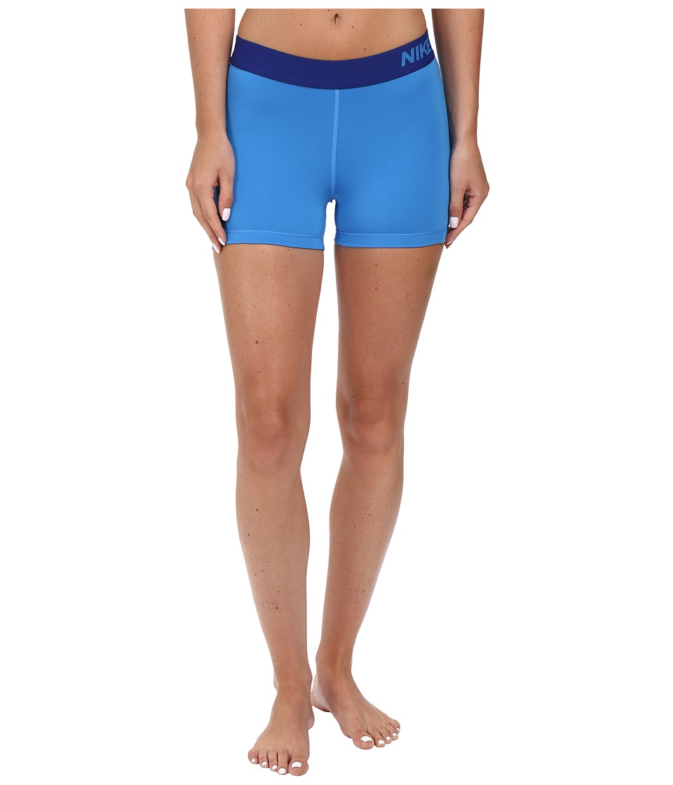 Nike Pro 3 Cool Compression Training Short (Light Photo Blue/Deep Royal Blue) Women