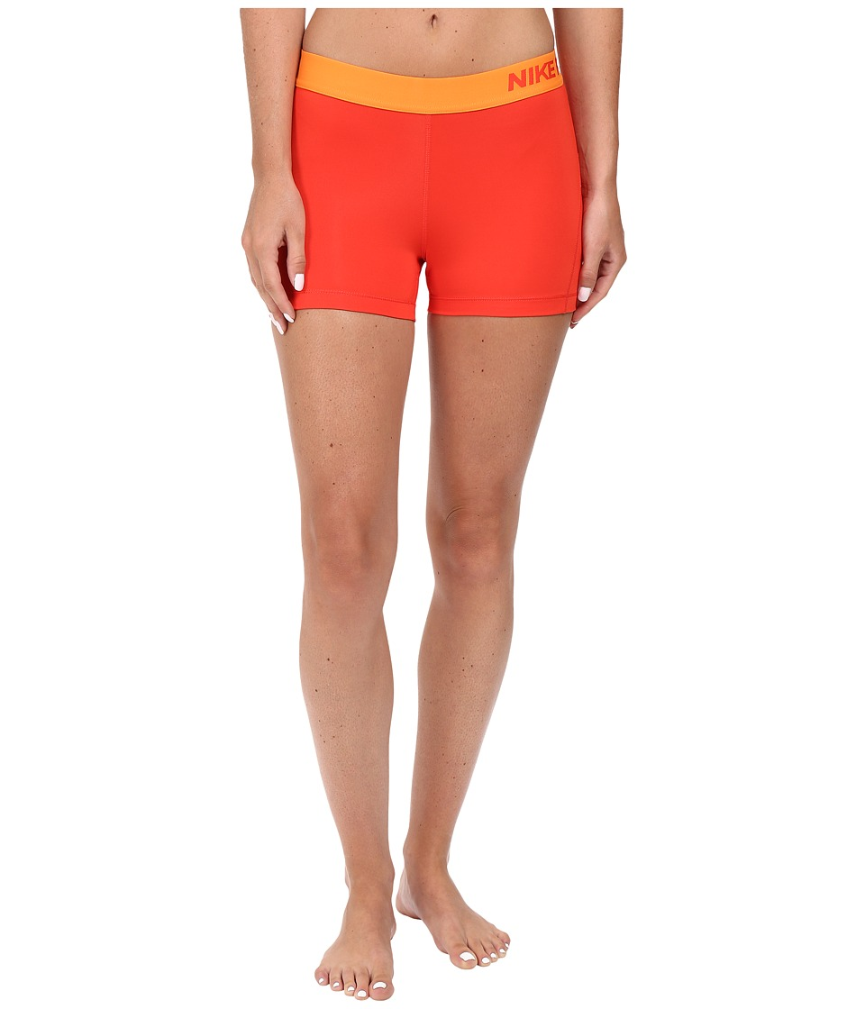 Nike Pro 3 Cool Compression Training Short (Light Crimson/Bright Mandarin) Women