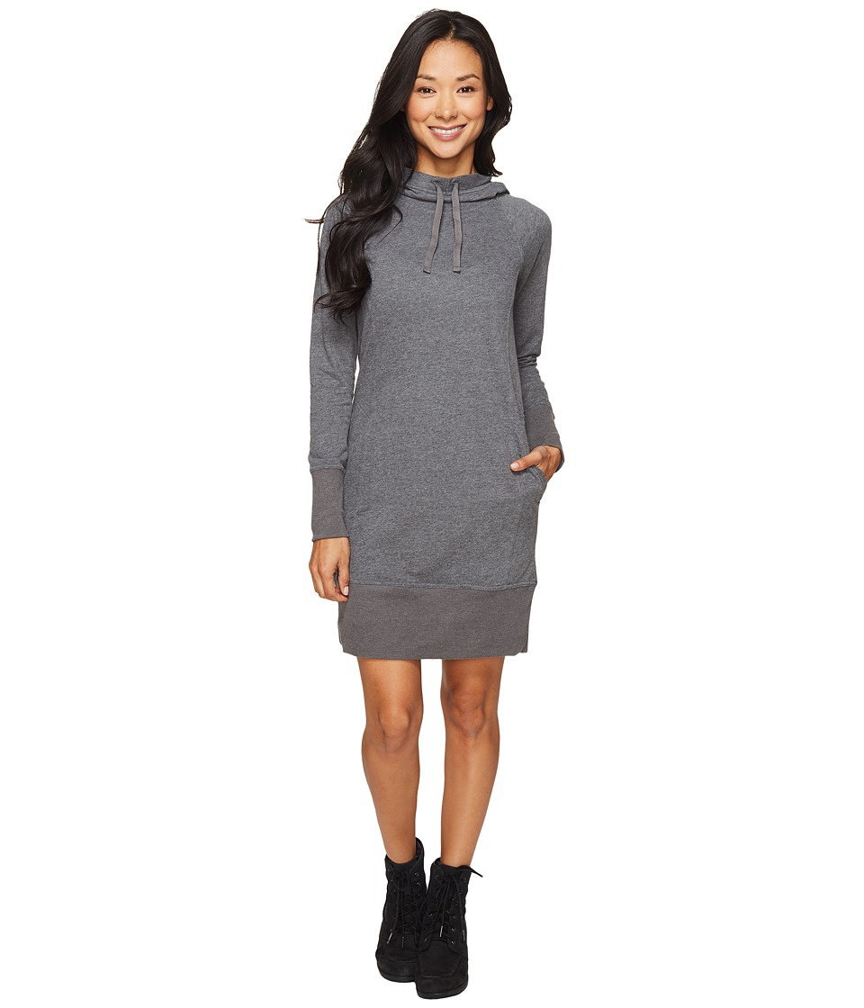 Toad&Co - BFT Hooded Dress (Charcoal Heather) Women's Dress