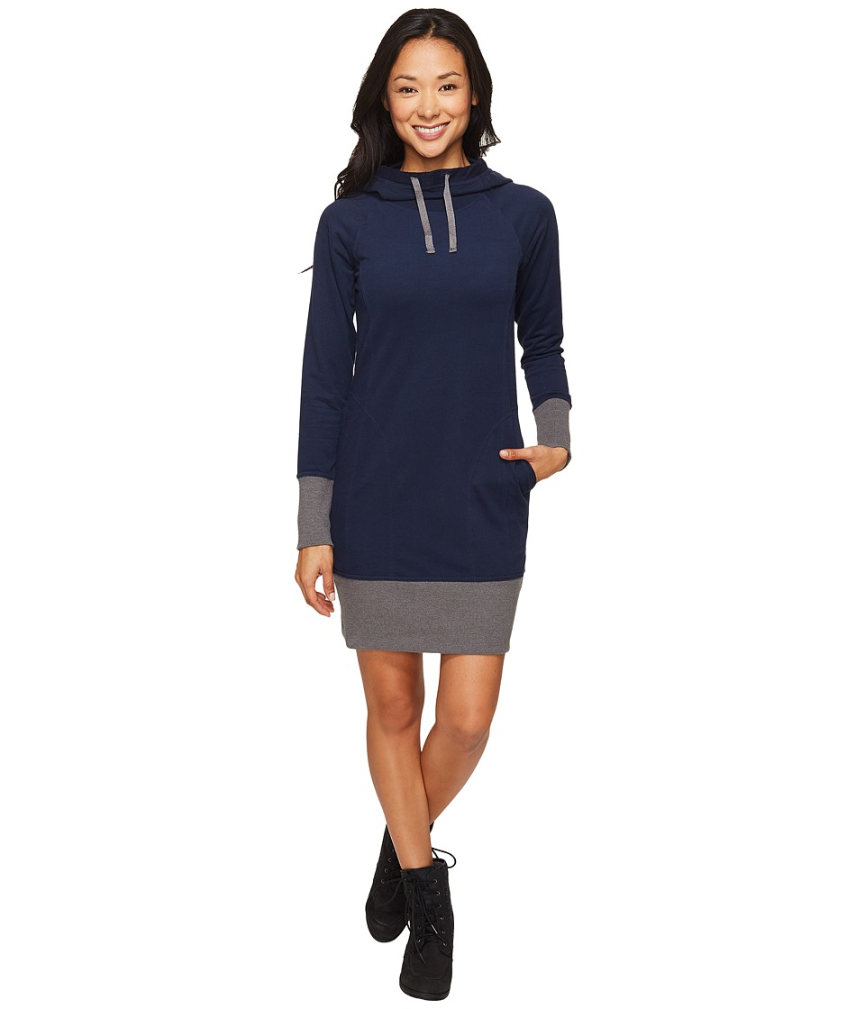 Toad&Co - BFT Hooded Dress (Deep Navy) Women's Dress