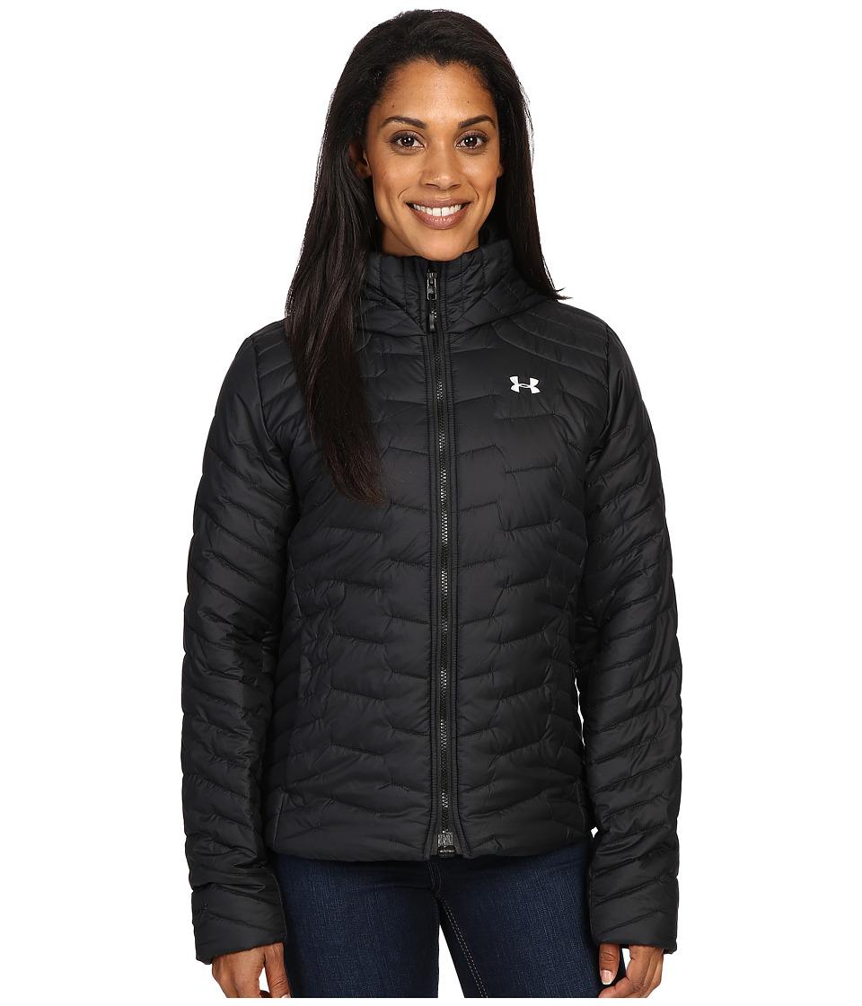 Under Armour - UA ColdGear Hooded Jacket (Black/Glacier Gray) Women's Coat