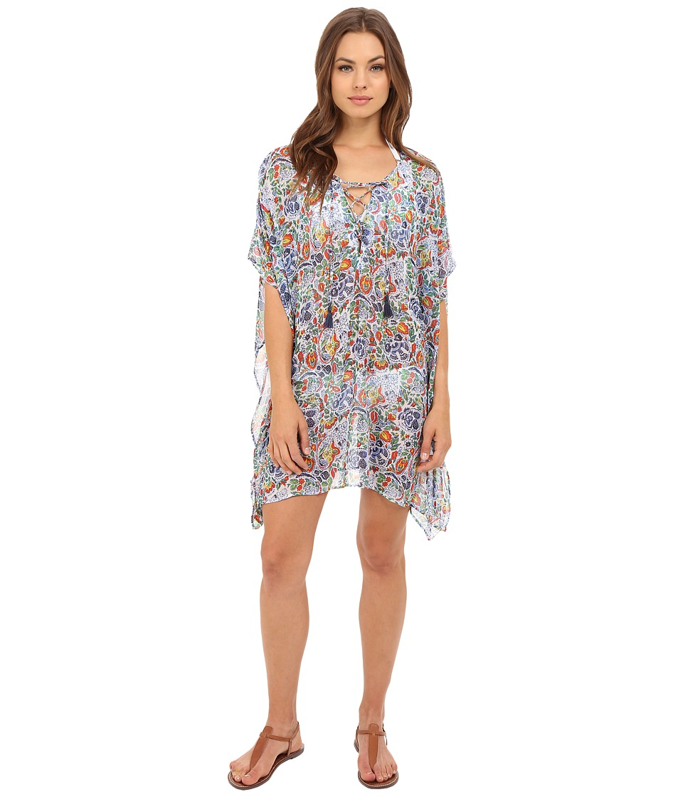 Tommy Bahama - Provincial Short Caftan Cover-Up (Multicolor) Women's Swimwear