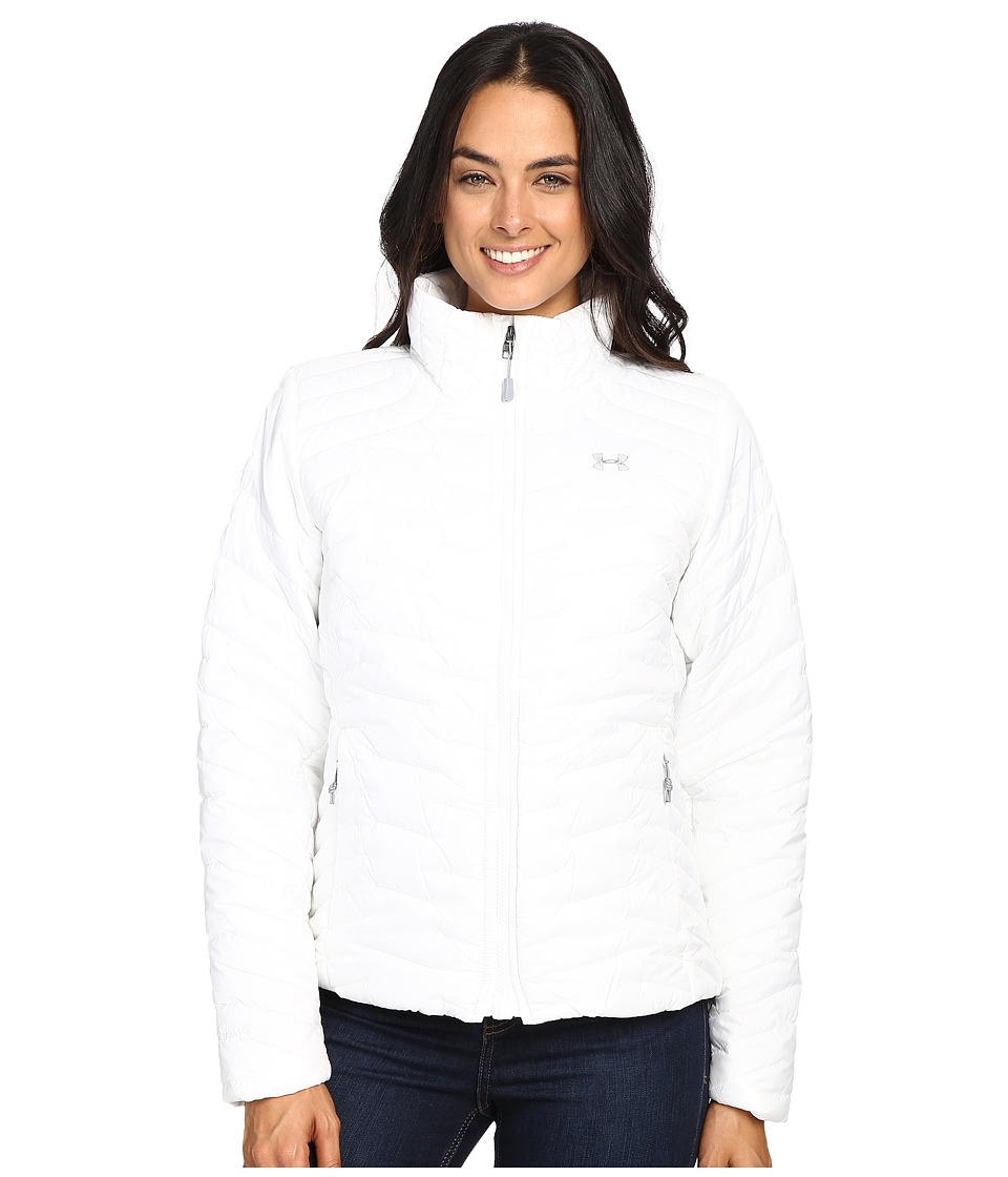 Under Armour - UA ColdGear Jacket (White/Steel) Women's Coat