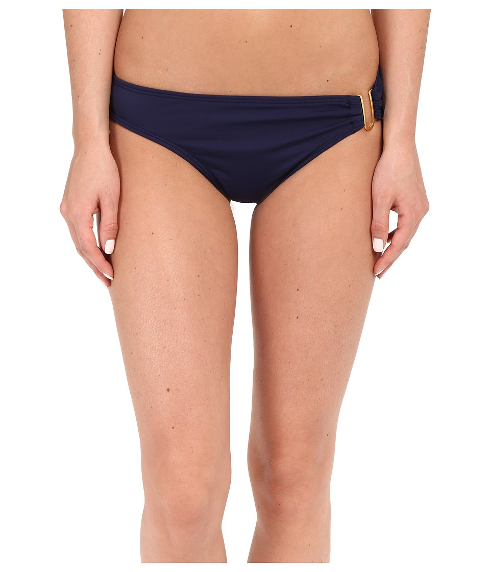 Tommy Bahama - Pearl U-Ring Hipster Bikini Bottom (Mare Navy) Women's Swimwear