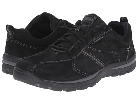 SKECHERS - Relaxed Fit Superior - Abrasive (Black Suede) Men