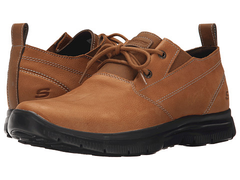 SKECHERS - Relaxed Fit Hinton - Boley (Tan Leather) Men's Shoes