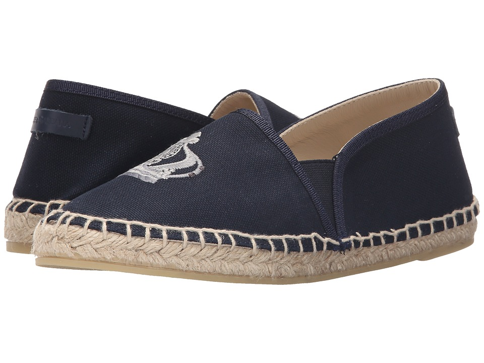 Dolce & Gabbana Kids - Crown Espadrille (Big Kid) (Blue) Boys Shoes