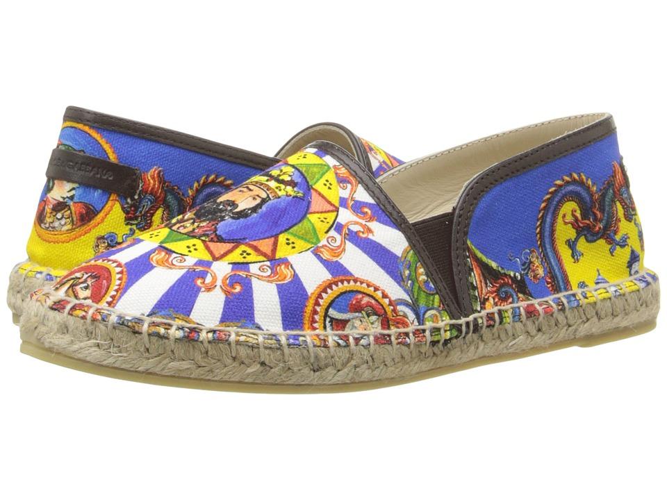Dolce & Gabbana Kids - Pinwheel Espadrille (Big Kid) (Print) Boys Shoes