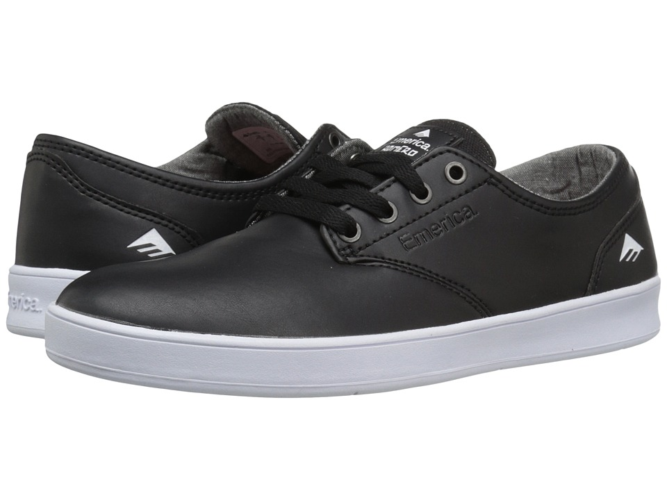 Emerica - The Romero Laced (Black/White/White) Men's Skate Shoes