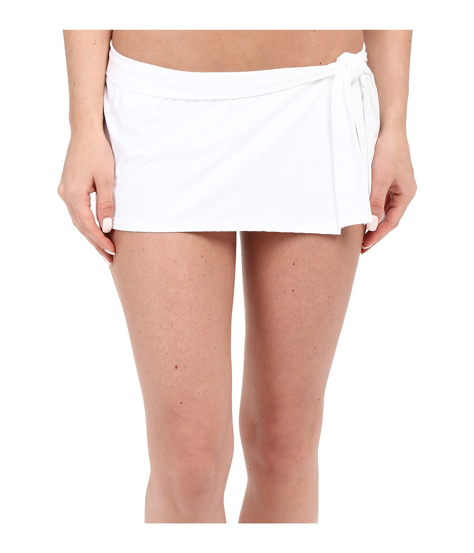 Tommy Bahama - Pearl Skirted Hipster Bikini Bottom (White) Women's Swimwear