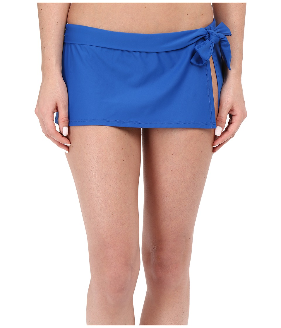 Tommy Bahama Pearl Skirted Hipster Bikini Bottom (Royal Blue) Women