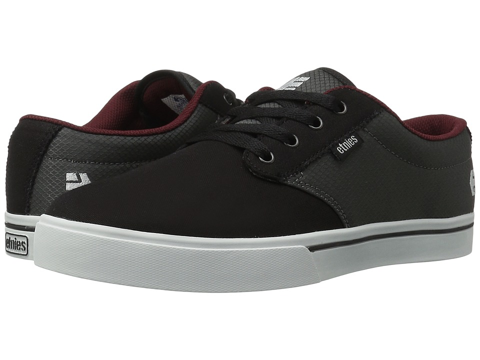 etnies - Jameson 2 Eco (Black/Grey/Red) Men's Skate Shoes