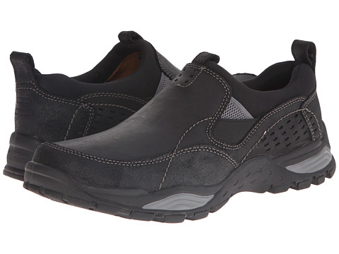 SKECHERS - Relaxed Fit Trexmen - Defiance (Black Leather) Men