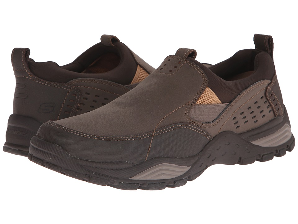 SKECHERS - Relaxed Fit Trexmen - Defiance (Brown Leather) Men's Shoes