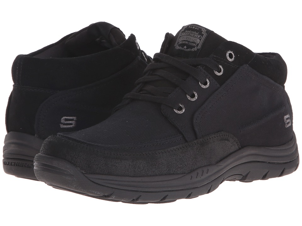 SKECHERS - Relaxed Fit Expected - Bremo (Black Canvas/Leather) Men