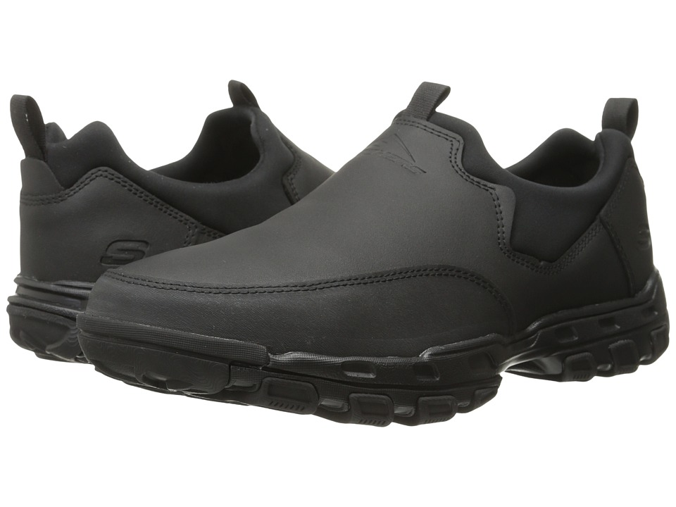 SKECHERS - Relaxed Fit Gander - Expectant (Black Leather) Men