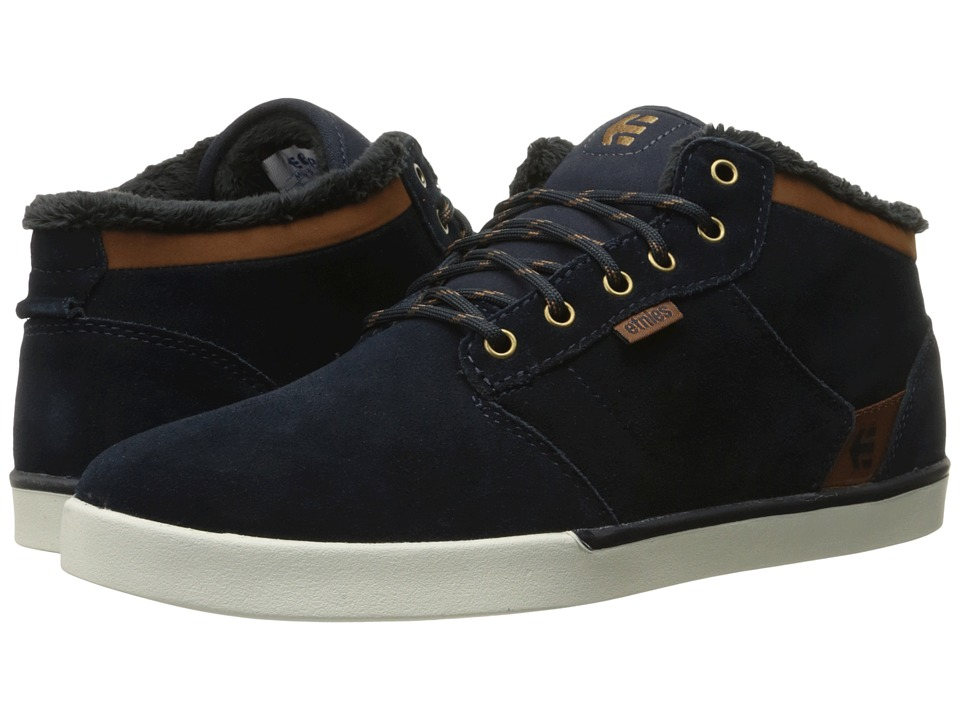 etnies - Jefferson Mid (Navy/Brown/White) Men's Skate Shoes