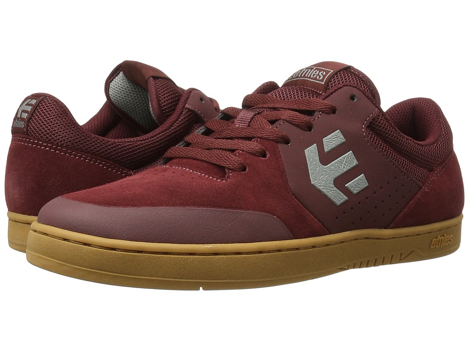 etnies - Marana (Burgundy/Tan) Men's Skate Shoes