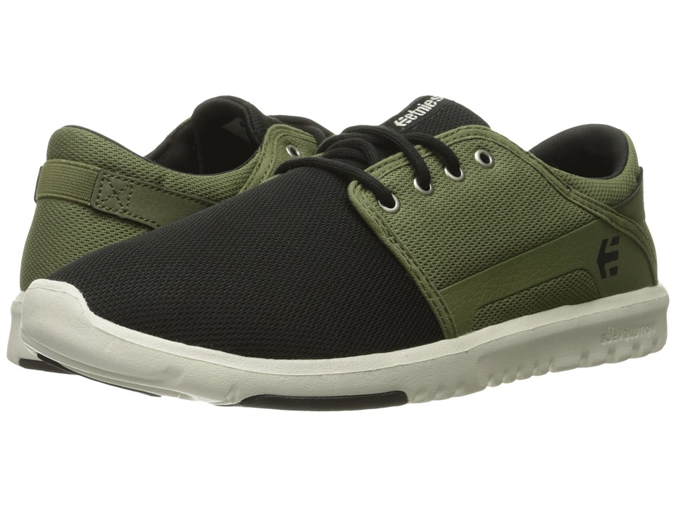 etnies - Scout (Black/Olive) Men's Skate Shoes