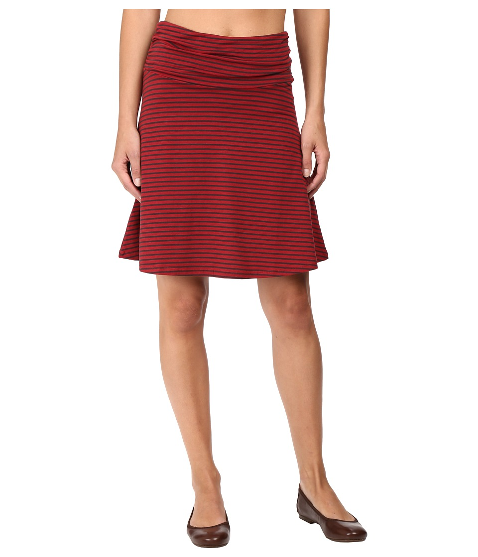 Toad&Co Chaka Skirt (House Red Stripe) Women