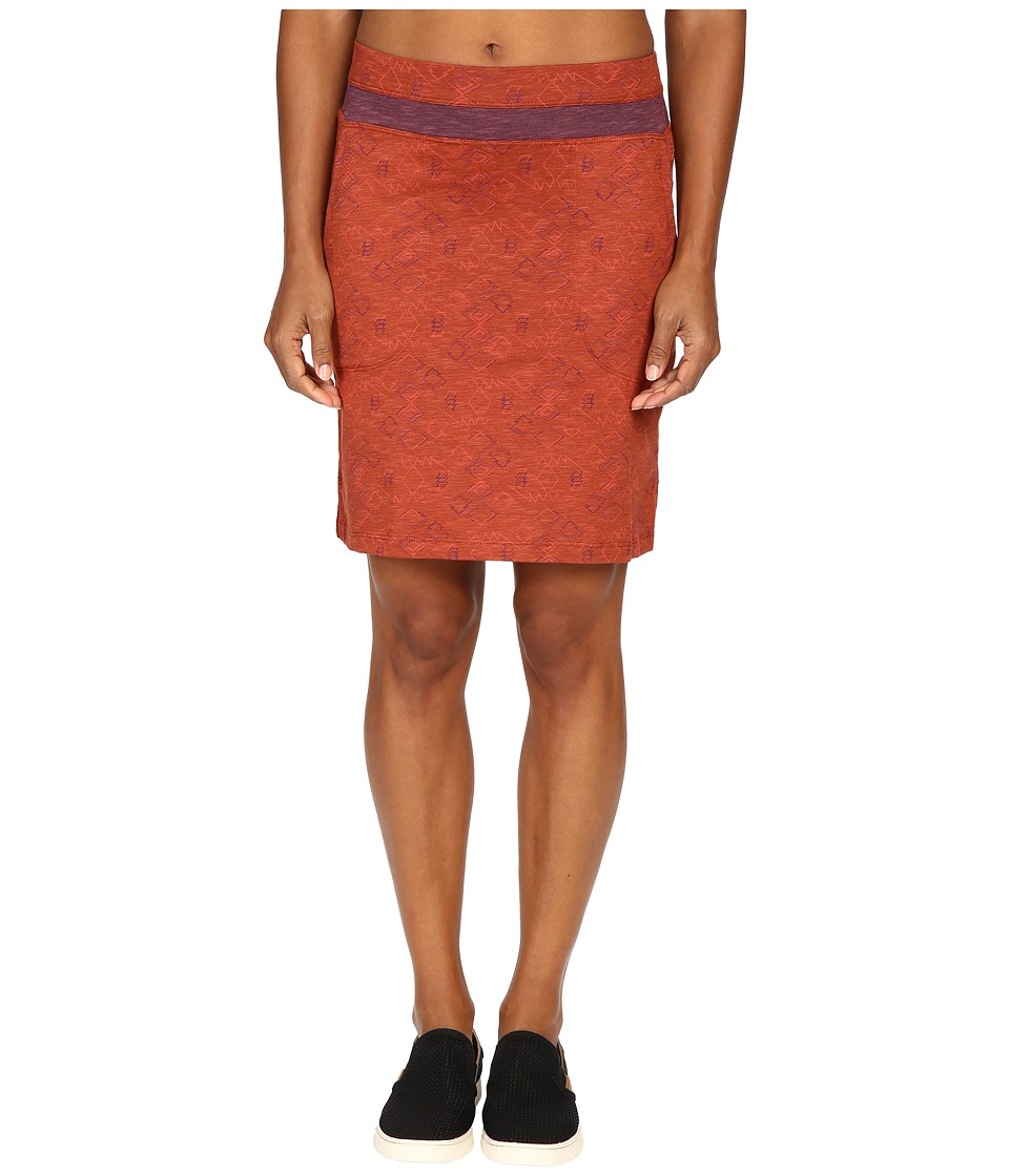 Toad&Co Sambossa Skirt (Dark Chestnut Tribal Print) Women