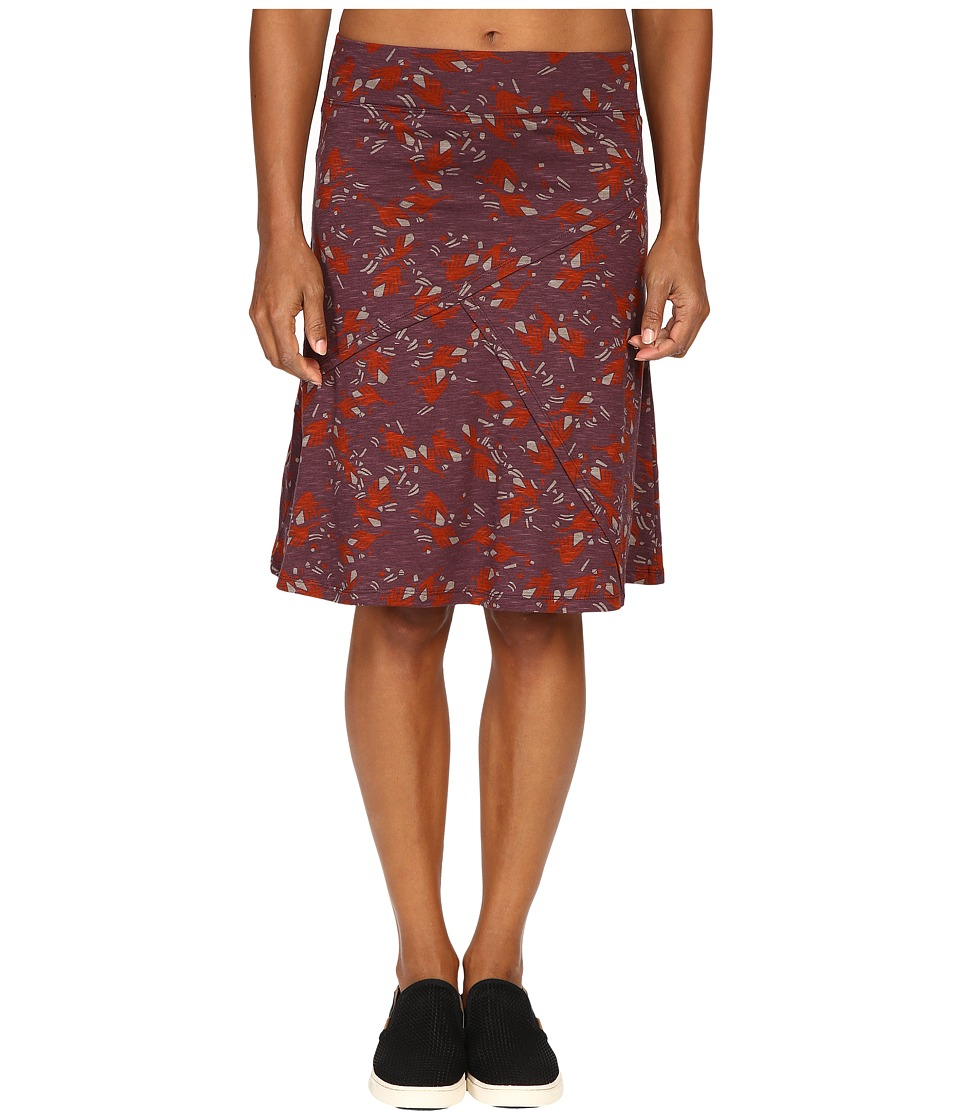 Toad&Co - Oblique Skirt (Vino Geese Print) Women's Skirt