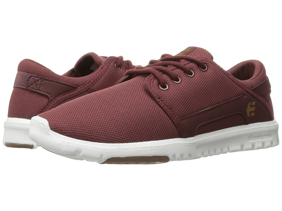 etnies Scout W (Burgundy/Tan/White) Women