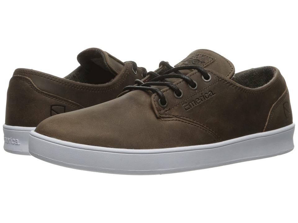 Emerica - The Romero Laced X Eswic (Brown/White) Men's Shoes