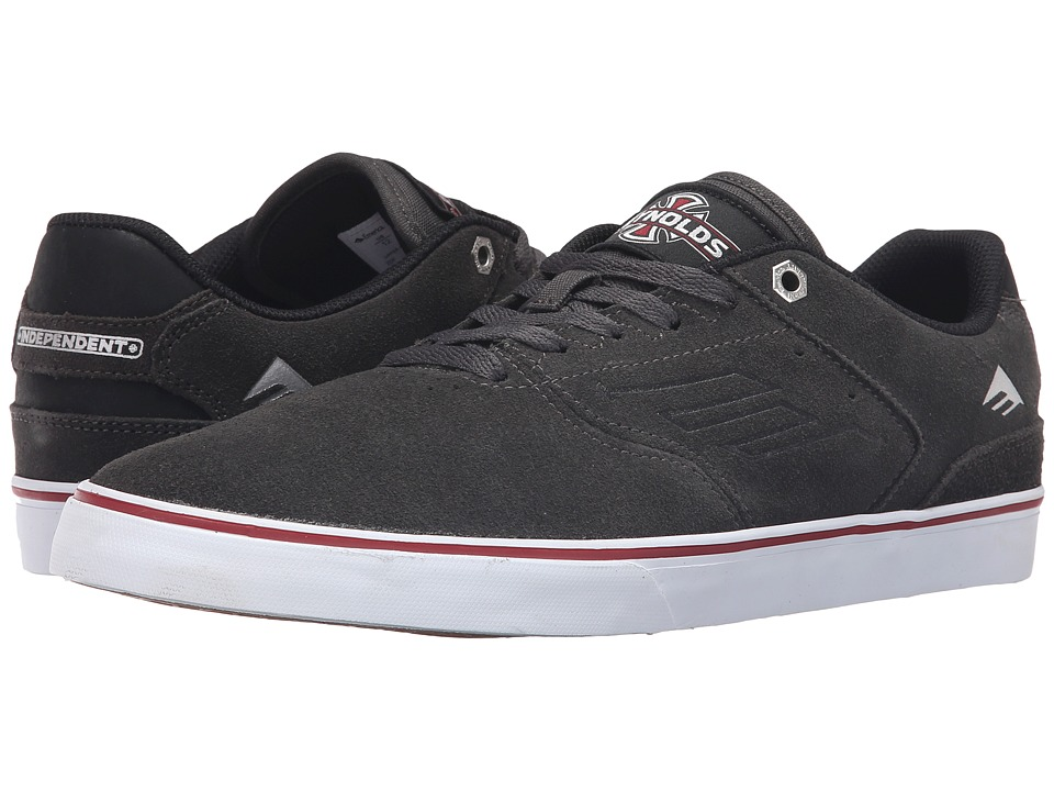 Emerica - The Reynolds Low Vulc X Indy (Dark Grey) Men's Skate Shoes
