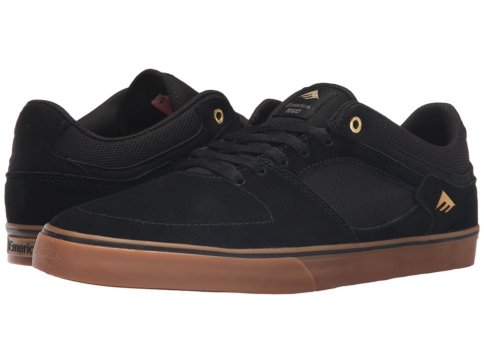 Emerica - The Hsu Low Vulc (Black/Gum) Men's Shoes