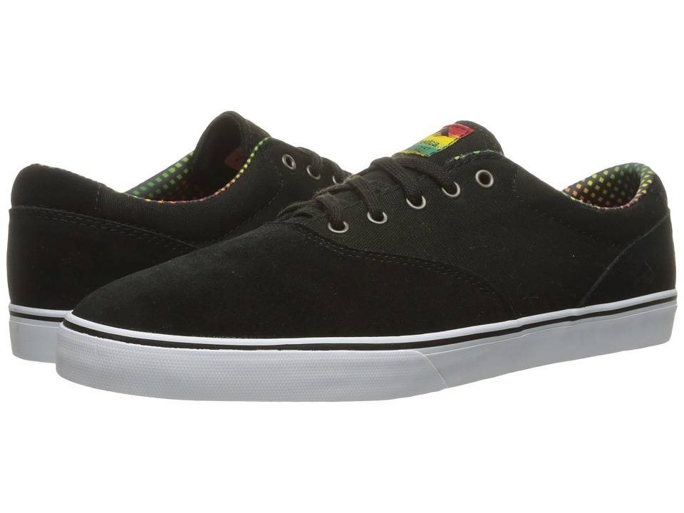 Emerica - The Provost Slim Vulc (Black/White/Green) Men's Skate Shoes