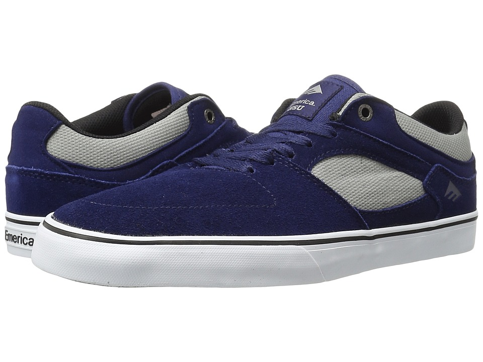 Emerica - The Hsu Low Vulc (Navy/Grey) Men's Shoes